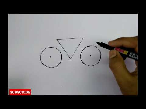 How To Draw Very Easy Bicycle For Kids _easy Drawing Tutorial