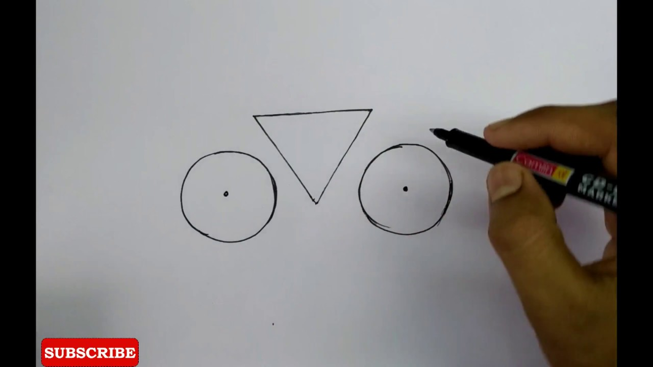 How To Draw Very Easy Bicycle For Kids Easy Drawing Tutorial Youtube