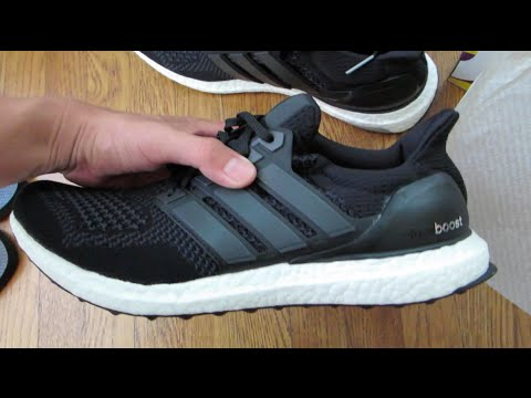 01f3e74e472c5 Adidas Ultra Boost Core Black 1.0 Unboxing - YouTube