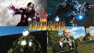 IRON MAN GAME - ALL BOSS BATTLES (Xbox 360)