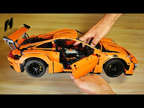 How to Motorize Lego Technic 42056 Porsche 911 GT3 RS (SBrick Remote Control)