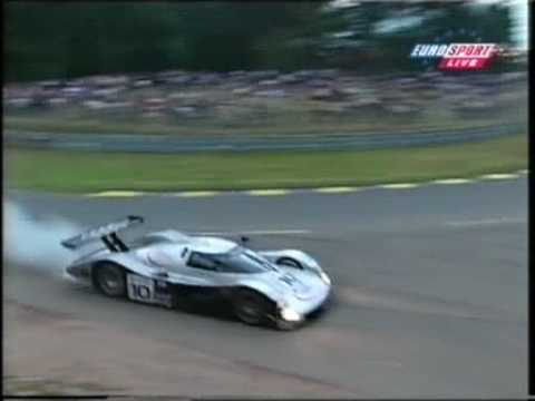 1999 - Le Mans - Perry McCarthy goes off into a slip road...