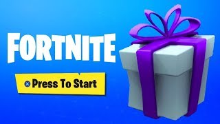 THE CADEAUX ARE FINALLY DISPONIBLE ON FORTNITE ... (I'm OFFERING MY 1ER SKIN)