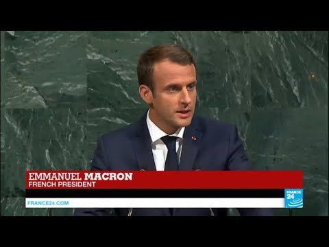REPLAY: President Macron addresses the UN General Assembly for the first time