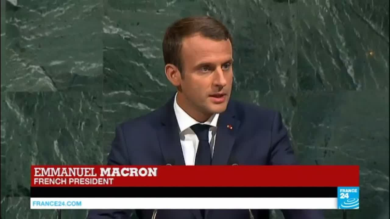 فرانس 24:REPLAY: President Macron addresses the UN General Assembly for the first time