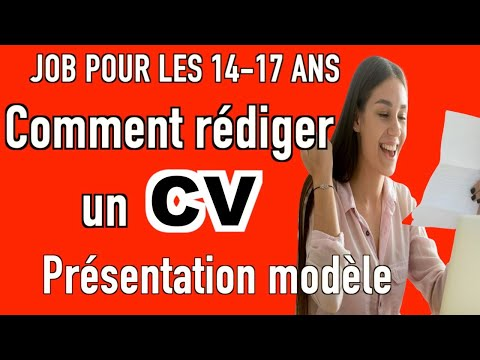 Bonus Pour Les 14 17 Ans Comment Rédiger Un Cv Pour Un Job