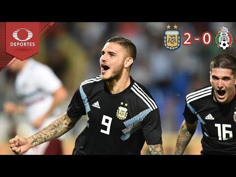 Argentina repite la dosis | Argentina 2 - 0 México | Partido Amistoso - Televisa Deportes