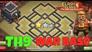 Clash Of Clans Th9 War Base 2016 Anti Everything(Anti Gowipe,Anti Hog,Anti 2 star,Anti Goho)