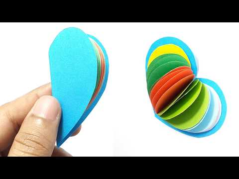 How to make paper easy love notebook | DIY notebook easy | How to make origami love notebook