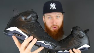 early look air jordan 6 black cat review
