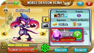 DESBLOQUEANDO EL NOBLE DRAGON REINA GRATIS+REGALANDO GEMAS PARA DRAGON CITY 2017