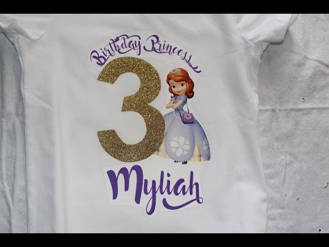 31417bdce EASY Birthday Shirt DIY! - YouTube