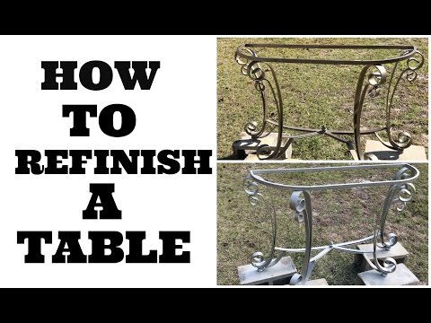 HOW TO REFINISH A TABLE | METAL ENTRY WAY TABLE