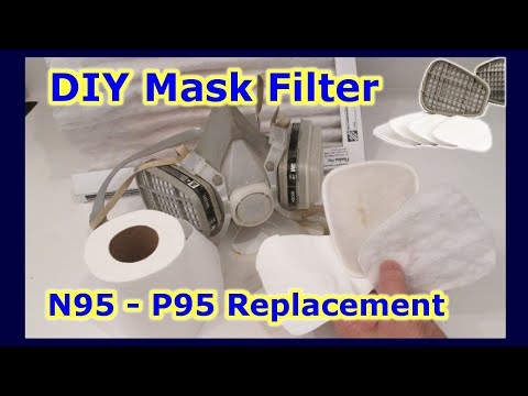 EASY DIY MASK N95 P95 Replacement Filter - DO IT YOURSELF - Disposable Filters Airborne Particles