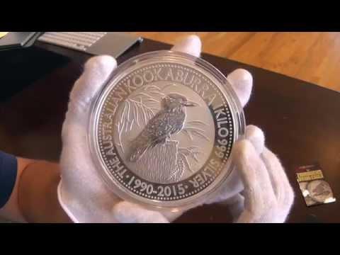 Unboxing Of 2015 Perth Mint Kookaburra 1 Kilo Coin Youtube