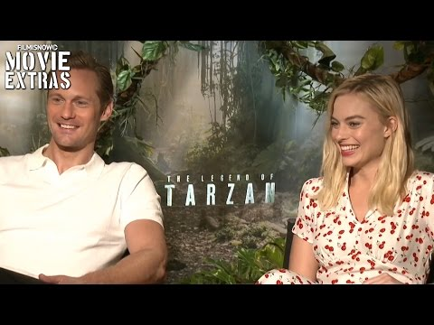 Alexander Skarsgard 'Tarzan' & Margot Robbie 'Jane' talk about The Legend of Tarzan (2016)