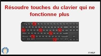 Résoudre touches du clavier qui ne fonctionne plus, pc portable