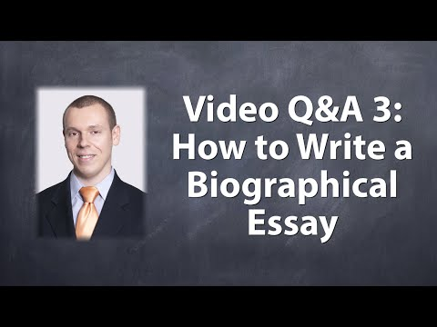 Download Youtube: How to Write a Biographical Essay