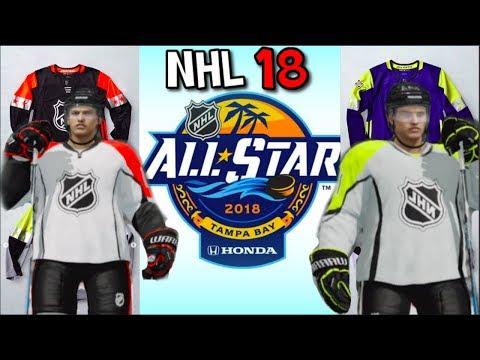 half off f7a19 18de7 RECREATING THE 2018 NHL ALL STAR JERSEYS IN NHL 18!!!