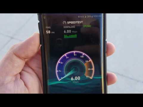 Sprint 4G LTE network speedtest  (day4)
