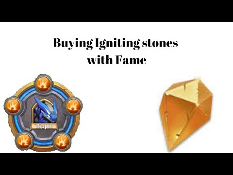 Buying Igniting Stones With Fame For Ripper BT 30 | Castle Clash