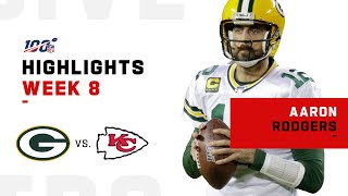 Aaron Rodgers Puts On a Show w/ 334 Total Yds & 3 TDs   NFL 2019 Highlights