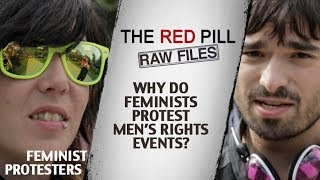 Why Do Feminists Protest Men's Rights Events? | Feminist Protesters #RPRF