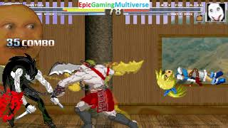 Rimul Aileron And Kratos VS Jeff The Killer And Annoying Orange In A MUGEN Match / Battle / Fight