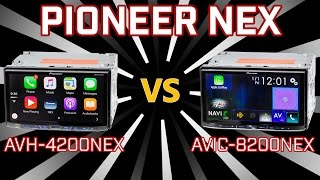 Pioneer AVH-4200NEX vs AVIC-8200NEX - Differences
