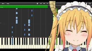 Piano - Aozora no Rhapsody/青空のラプソディ (full) - Kobayashi-san Chi no Maid Dragon/小林さんちのメイドラゴン OP thumbnail