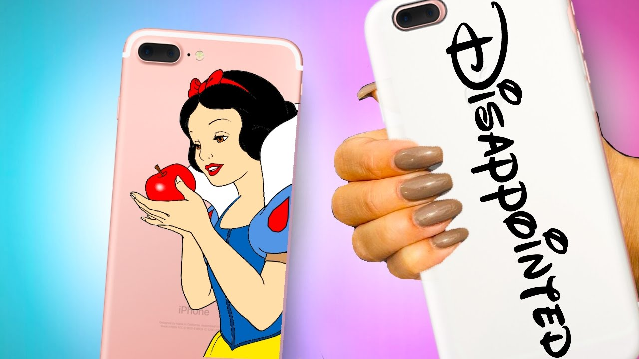 online retailer 822f0 7a470 Disney Princess DIY Phone cases! Beauty and the Beast inspired!