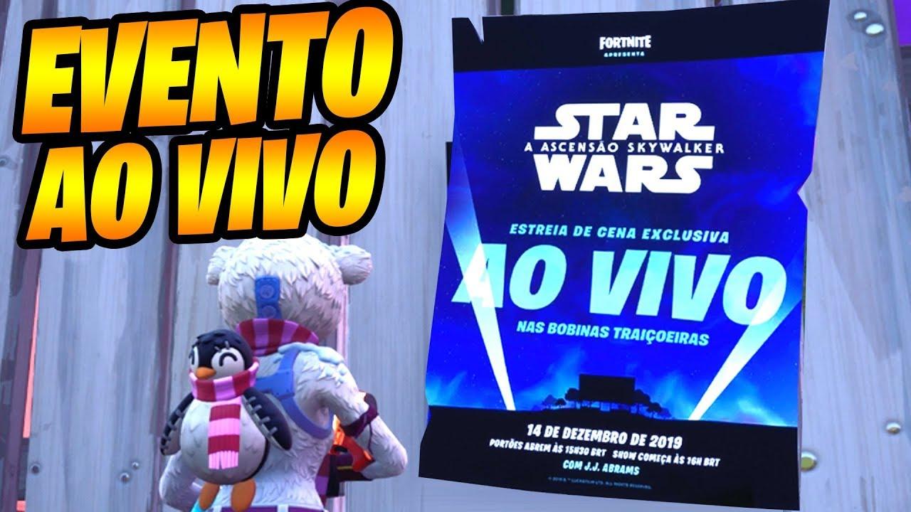 Fortnite Evento Ao Vivo Star Wars A Ascensão Skywalker Youtube