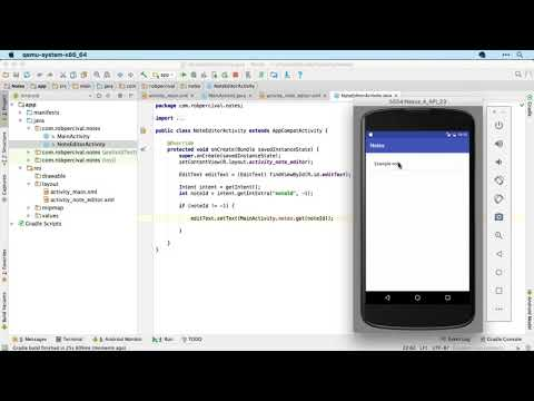 Build A Note App With Android Studio, Java And Permanent Storage