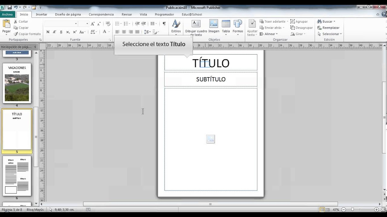 Videotutorial Complemento Educ@School para Publisher - YouTube