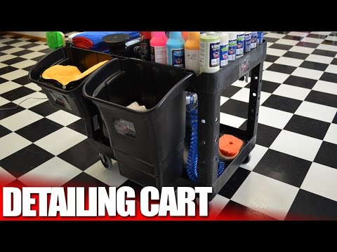 Car Detailing Supplies >> The Best Auto Detailing and Car Wash Supply Cart - YouTube