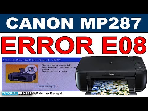 Cara Reset Printer Canon MP287 Mudah & Lengkap How to Reset Canon Printer MP287 Fix Error E08 Printer Canon MP287 ....
