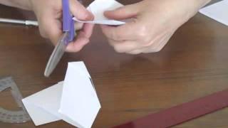 Как сложить бумагу, чтобы вырезать снежинку