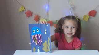 Делаем аппликацию на морскую тему Медузы/поделки с детьми/детский канал