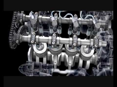 Mercedes E-Class Coupe: New 4-cylinder Diesel engine Animation