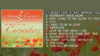 BEST OF CARPENTERS songs | Acoustic covers [Real quality music] - New Generation Karen Carpenter