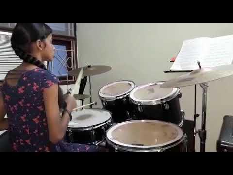 Gifta playing Drums @ Pavo school of music Thiruvanmiyur, Chennai