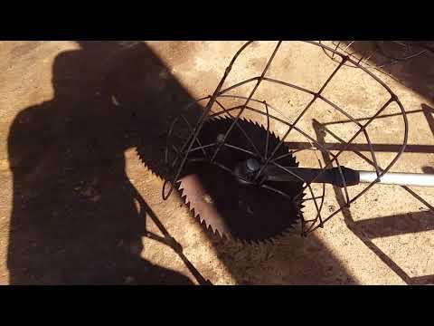 Lắp lồng cắt lúa. Tét thử trên máy cắt cỏ