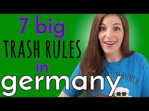 GERMAN TRASH RULES - 7 Big Ones to Know