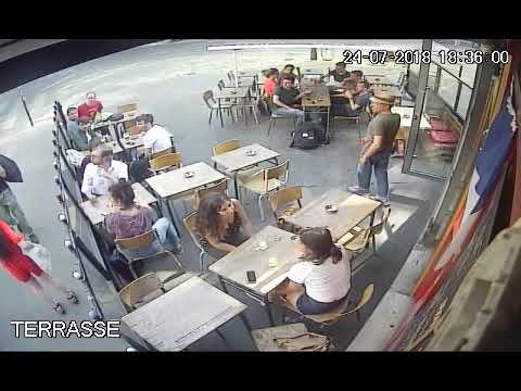Woman harassed and hit by a man in the streets of Paris [Eng/Fr]