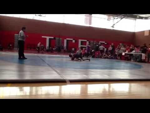 Good wrestling match at tuba city boarding school