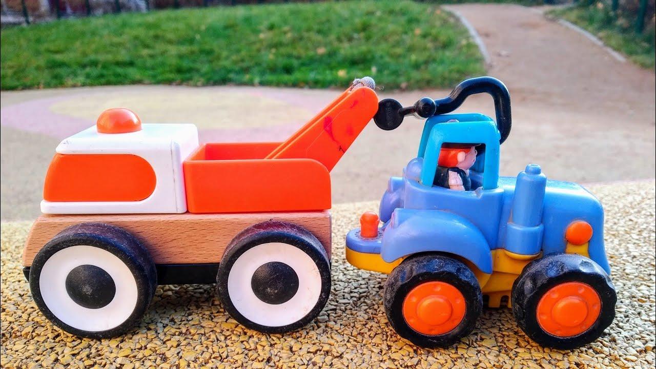 Мультики про машинки. Синий трактор и эвакуатор. Машинки ...