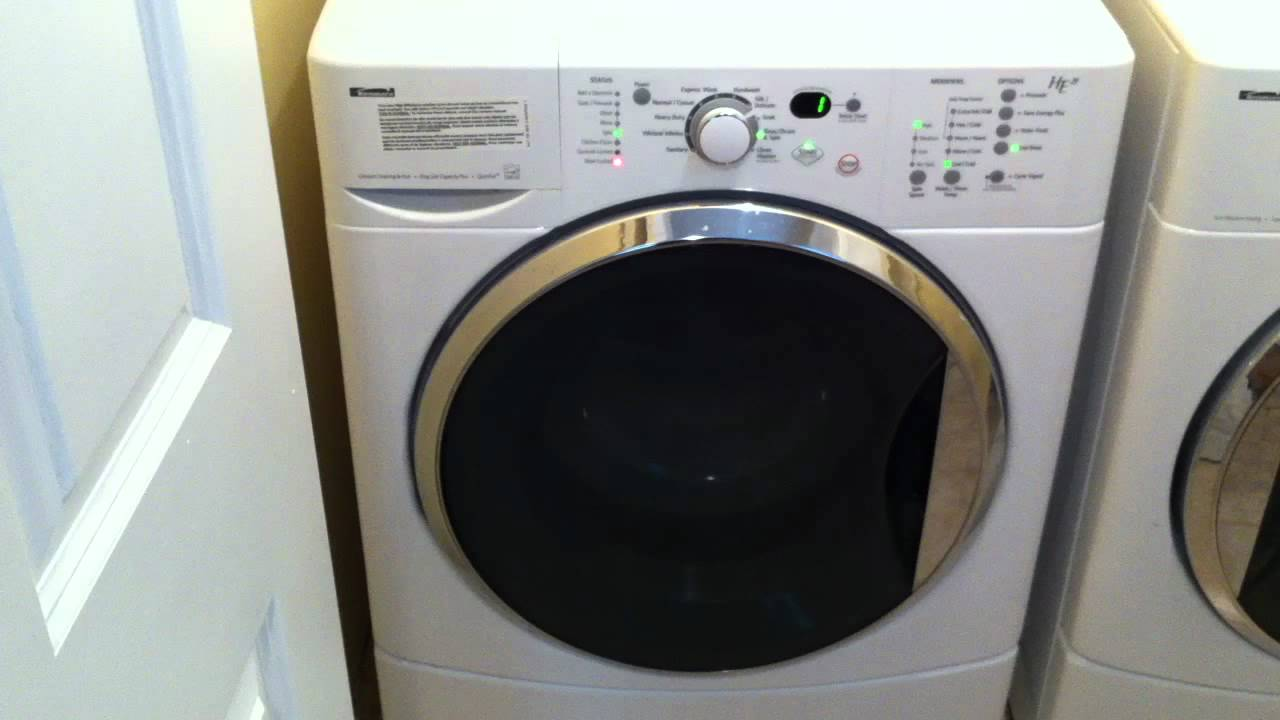 kenmore he2t heavy vibration spin cycle youtube rh youtube com Kenmore Front Load Washer Manual kenmore elite he3t washing machine manual