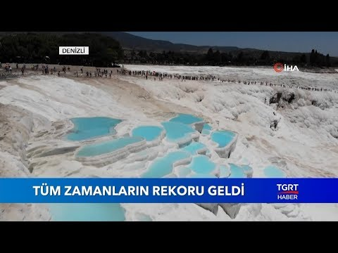 Pamukkale Ziyaretçi Sayısında Rekor Kırdı