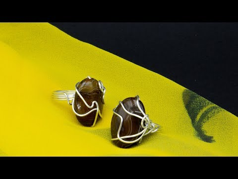 Tutorial how to make a simple wire wrapped ring with gems