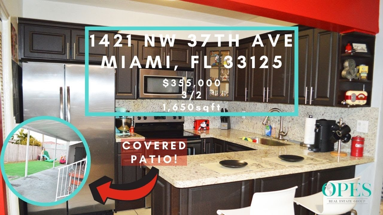 Home For Sale With Remodeled Kitchen In Miami! 1421 NW 37th Ave, Miami FL